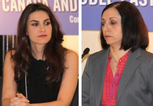 Nazanin Afshin-Jam (left) and Marina Nemat were also among the panelists  - Photo by Salam Toronto