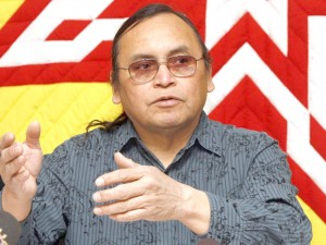 رهبر اسبق گروه 1400 نفره بومیان روزیو ریور  Roseau River بنام تری نلسون Terry Nelson